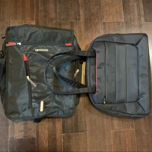 Laptop backpack and laptop bag bundle